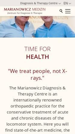 Vorschau der mobilen Webseite www.marianowicz.de, Marianowicz Medizin, Dr. med. Martin Marianowicz