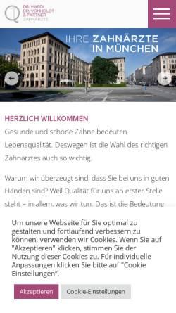 Vorschau der mobilen Webseite www.schmidseder-mardi.de, Dr. Schmidseder und Dr. Mardi, Zahnärzte