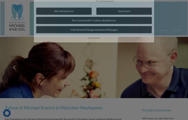 Vorschau von www.zahnarzt-kneissl-muenchen.de, Zahnarztpraxis Michael Kneissl