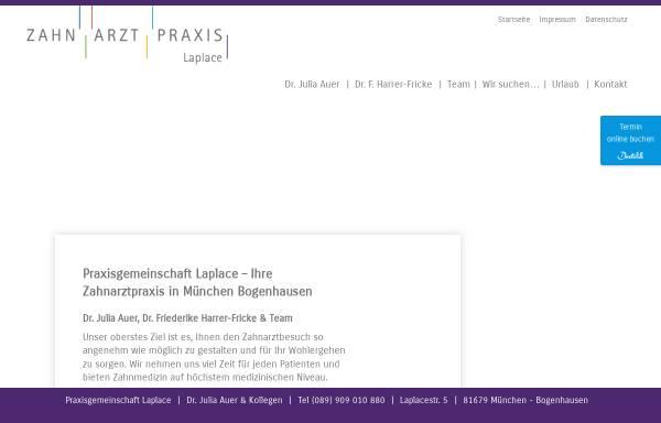 Vorschau von www.zahnarzt-laplace.de, Dr. med.dent. Julia Auer, Zahnärztin