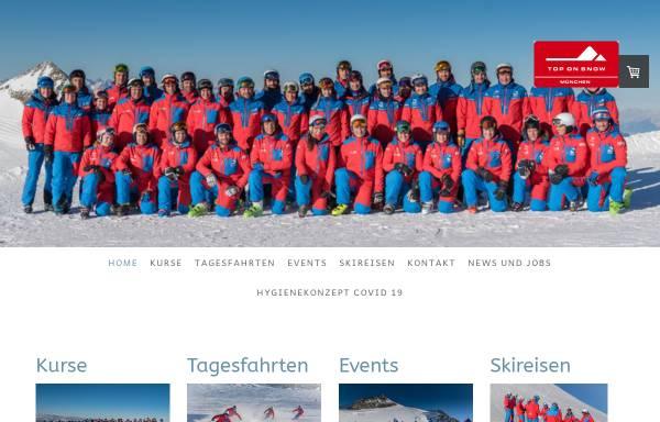 Vorschau von www.top-on-snow.de, Skischule & Snowboardschule Top on Snow München GbR