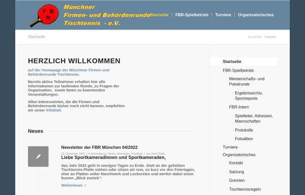 Vorschau von ttfbr.de, Tischtennis in der Münchner Firmen- und Behördenrunde FBR