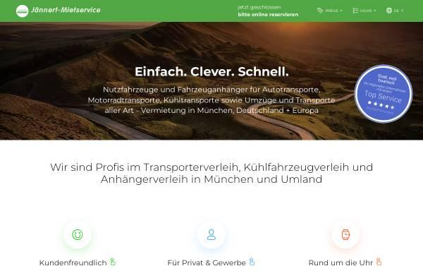 Vorschau von www.jaennert-mietservice.de, Anhänger Mietservice