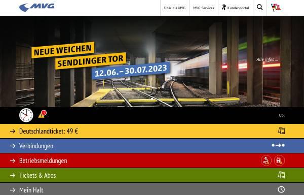 Vorschau von www.mvg.de, MVG Münchner Verkehrsgesellschaft mbH