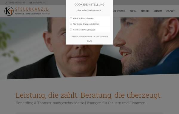 Vorschau von www.fkonerding.de, Steuerkanzlei Ferdinand Konerding