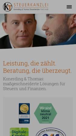 Vorschau der mobilen Webseite www.fkonerding.de, Steuerkanzlei Ferdinand Konerding