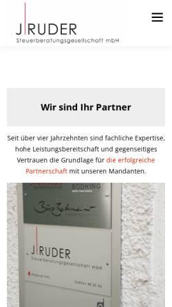 Vorschau der mobilen Webseite www.jruder.de, J. Ruder Steuerberatungsgesellschaft mbH