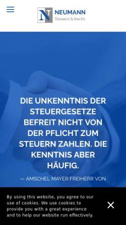 Vorschau der mobilen Webseite www.askpn.de, Steuerberater Peter Neumann