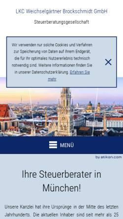 Vorschau der mobilen Webseite www.bayerntax.de, Weichselgärtner und Brockschmidt GbR