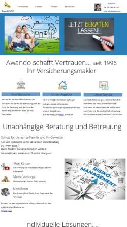 Vorschau der mobilen Webseite www.awando.com, A-Z Versicherungen - Frank Eßmann