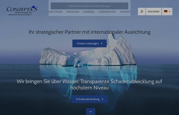 Vorschau von www.conzeptas.eu, Conzepta's Assekuranzmakler GmbH