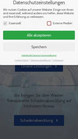 Vorschau der mobilen Webseite www.conzeptas.eu, Conzepta's Assekuranzmakler GmbH