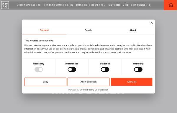 Vorschau von www.kwag.de, KW Financial Services Holding AG / KW Immobilien Managment GmbH