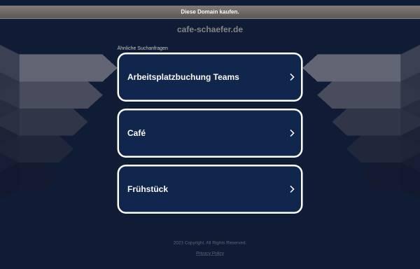 Vorschau von www.cafe-schaefer.de, Café Schäfer UG