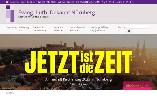 Vorschau von www.nuernberg-evangelisch.de, Nürnberg Evangelisch - Ev. Dekanat Nürnberg