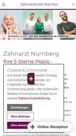 Vorschau der mobilen Webseite www.zahnaerzte-am-sterntor.de, Die Zahnärzte am Sterntor
