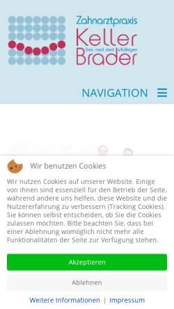 Vorschau der mobilen Webseite www.nuernberger-zahnarzt.de, Zahnarztpraxis Dr. Michael Keller und Kollegen