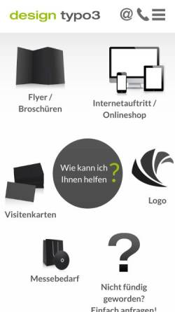 Vorschau der mobilen Webseite www.design-typo3.de, Sylvia Gross Design