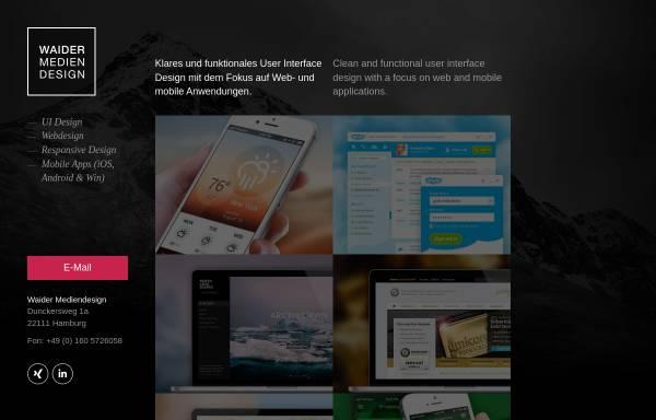 Vorschau von www.waider-mediendesign.de, Waider Mediendesign, Jan Erik Waider