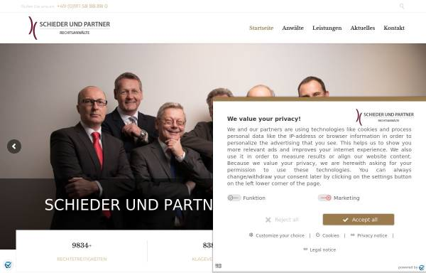 Vorschau von www.rae-schieder.de, Schieder und Partner Rechtsanwälte