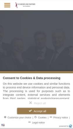 Vorschau der mobilen Webseite www.rae-schieder.de, Schieder und Partner Rechtsanwälte
