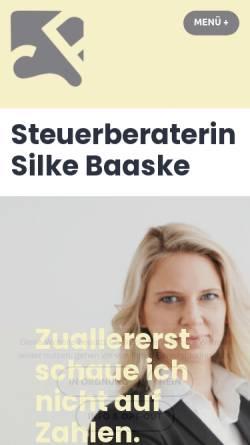 Vorschau der mobilen Webseite www.stb-baaske.de, Silke Baaske - Steuerberaterin