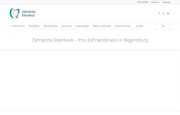 Vorschau von zahnaerzte-ebenbeck.de, Zahnärzte Ebenbeck