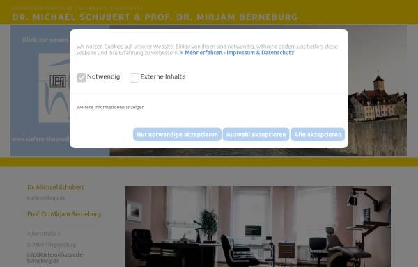 Vorschau von www.kieferorthopaede-schubert.de, Dr. med. dent. Michael Schubert, Kieferorthopäde