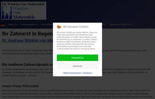 Vorschau von www.my-dentist.de, Zahnarztpraxis Dr. Andreas Winkler von Mohrenfels