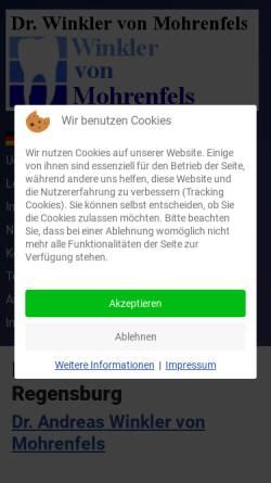 Vorschau der mobilen Webseite www.my-dentist.de, Zahnarztpraxis Dr. Andreas Winkler von Mohrenfels