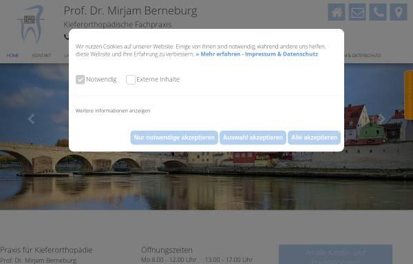 Vorschau von www.kieferorthopaedie-berneburg.de, Prof. Dr. Mirjam Berneburg Kieferorthopädin