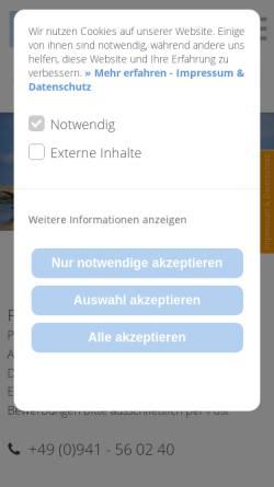 Vorschau der mobilen Webseite www.kieferorthopaedie-berneburg.de, Prof. Dr. Mirjam Berneburg Kieferorthopädin