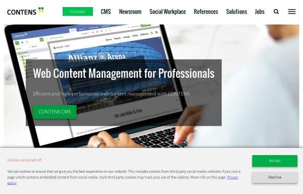Vorschau von www.contens.de, Contens Software GmbH