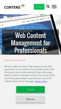 Vorschau der mobilen Webseite www.contens.de, Contens Software GmbH