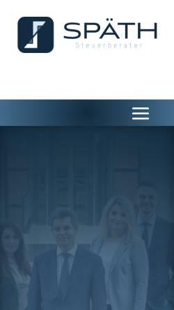 Vorschau der mobilen Webseite www.spaeth-stb.de, Steuerberaterkanzlei Oliver Späth