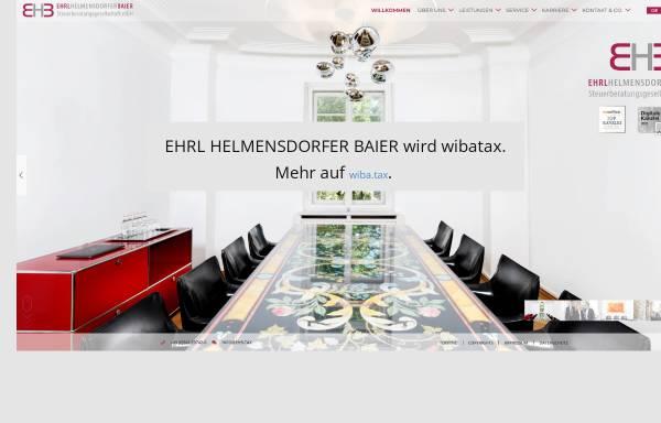Vorschau von www.ehrl-kollegen.de, Ehrl und Kollegen - Steuerberatungsgesellschaft mbH
