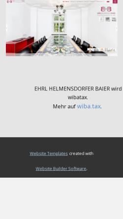 Vorschau der mobilen Webseite www.ehrl-kollegen.de, Ehrl und Kollegen - Steuerberatungsgesellschaft mbH