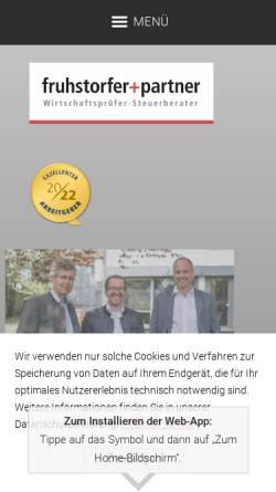 Vorschau der mobilen Webseite www.fruhstorfer-partner.de, fruhstorfer+partner Steuerberatungsgesellschaft mbB
