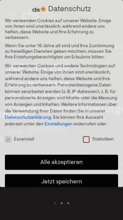 Vorschau der mobilen Webseite www.consulting-business-solutions.de, CBS Consulting Business Solutions GmbH