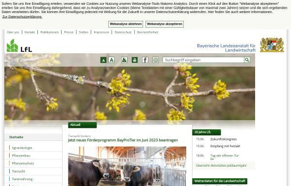 Vorschau von www.lfl.bayern.de, Bayerische Landesanstalt für Landwirtschaft