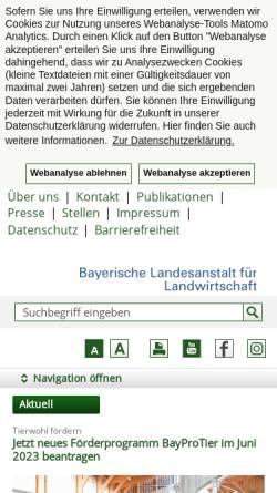 Vorschau der mobilen Webseite www.lfl.bayern.de, Bayerische Landesanstalt für Landwirtschaft