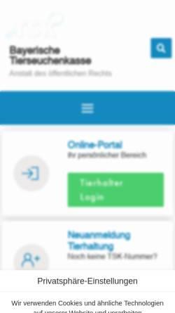 Vorschau der mobilen Webseite www.btsk.de, Bayerische Tierseuchenkasse