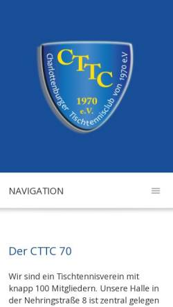 Vorschau der mobilen Webseite www.cttc70.de, Charlottenburger Tischtennis-Club von 1970 e.V.