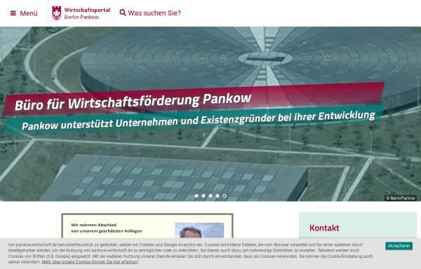 Vorschau von www.pankow-wirtschaft.de, Pankow-Wirtschaft - Bezirksamt Pankow von Berlin