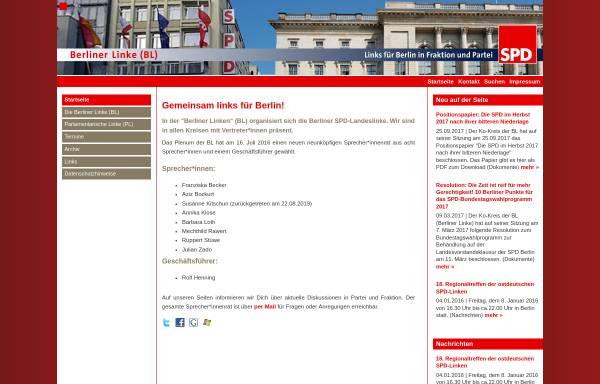 Vorschau von www.spdlinke.de, Berliner Linke