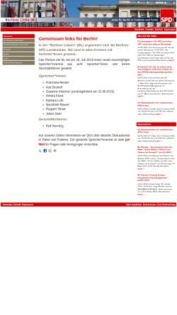 Vorschau der mobilen Webseite www.spdlinke.de, Berliner Linke