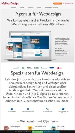 Vorschau der mobilen Webseite www.mellowdesign.de, Mellow Design