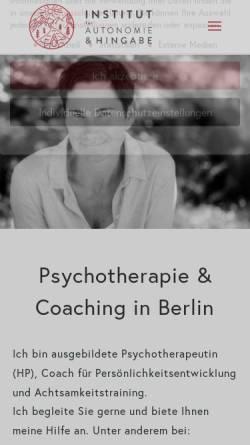 Vorschau der mobilen Webseite frauke-ruenzel.de, Frauke Marie Rünzel