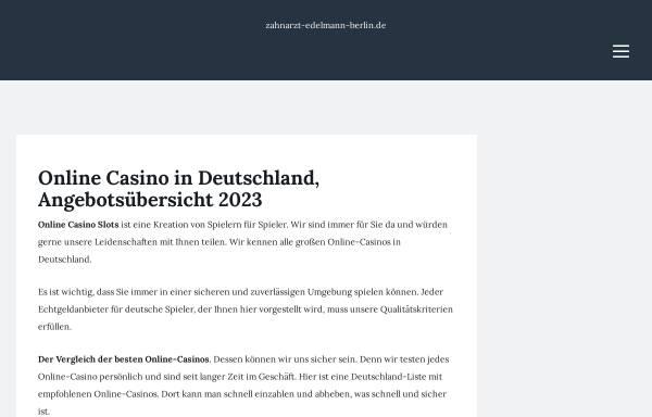 Vorschau von www.zahnarzt-edelmann-berlin.de, Dr. Dr. Gonschior