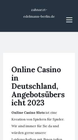Vorschau der mobilen Webseite www.zahnarzt-edelmann-berlin.de, Dr. Dr. Gonschior